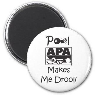 Pool Makes Me Drool 6 Cm Round Magnet