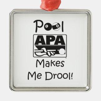 Pool Makes Me Drool Christmas Ornament
