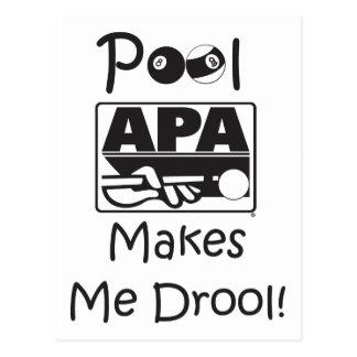 Pool Makes Me Drool Postcard