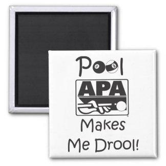 Pool Makes Me Drool Square Magnet