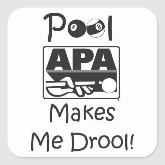 Pool Makes Me Drool Square Sticker