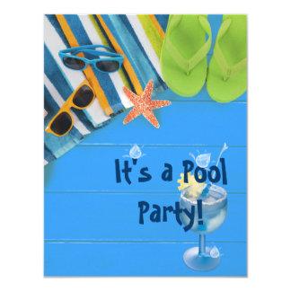 Pool Party 11 Cm X 14 Cm Invitation Card