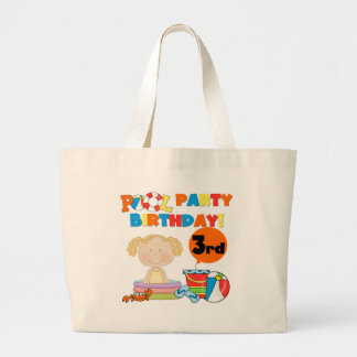 Pool Party 3rd Birthday T-shirts and Gifts Jumbo Tote Bag