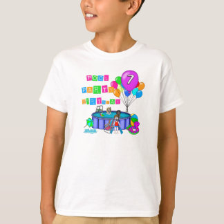 Pool Party 7th Birthday T-Shirt