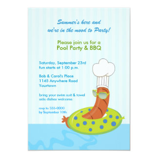 Pool Party BBQ Invitation