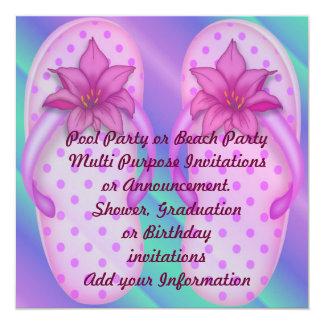 Pool Party Beach Multi purpose Invitation