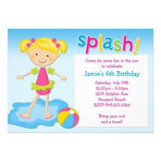 Pool Party Birthday Party Invitation