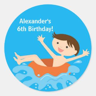 Pool Party Birthday Sticker