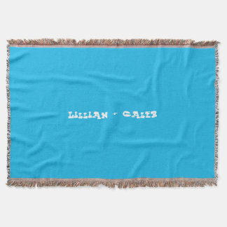 Pool Party Blue Custom Couples Throw Blanket