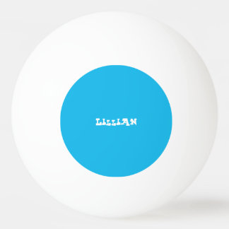 Pool Party Blue Custom Ping Pong Ball