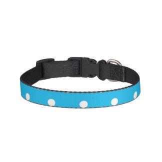 Pool Party Blue Polka Dots Pet Collar