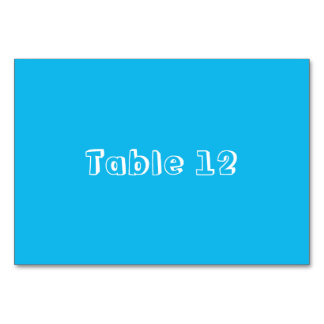 Pool Party Blue Template Table Card