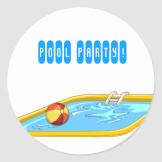 Pool Party! Classic Round Sticker