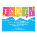 Pool Party Fun Invitation