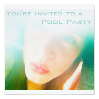 Pool Party 5.25x5.25 Square Paper Invitation Card