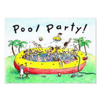 POOL PARTY! 5X7 PAPER INVITATION CARD