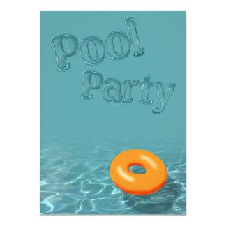 "Pool Party Invitation 5"" X 7"" Invitation Card"