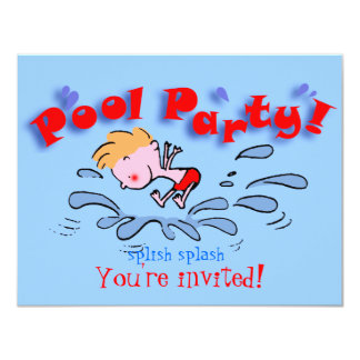 pool party invitation kids