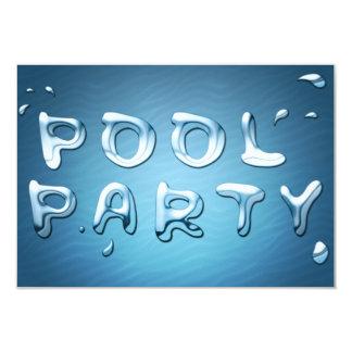 "pool party invitation : liquids 3.5"" x 5"" invitation card"