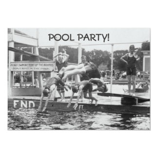 Pool Party Invitations - Don't SPIT in Pool!