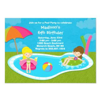 Pool Party Kids Birthday Party Invitation