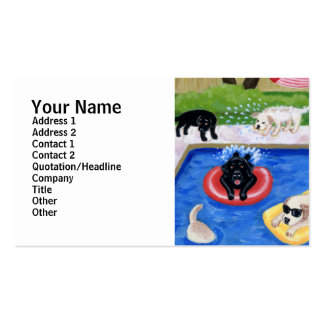 Pool Party Labradors Business Card Template