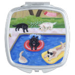 Pool Party Labradors Fun Painting