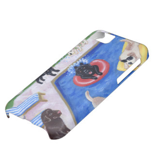 Pool Party Labradors Fun Painting iPhone 5C Case