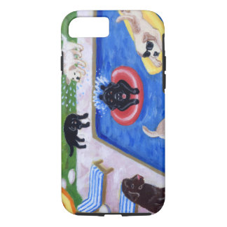 Pool Party Labradors Fun Painting iPhone 7 Case