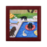 Pool Party Labradors Painting