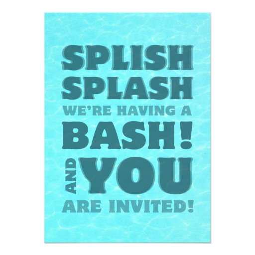 Pool Party Splish Splash Invitation