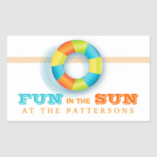 Pool Party Summer Fun in the Sun Sticker
