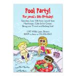Pool Party Themed Birthday Invitation