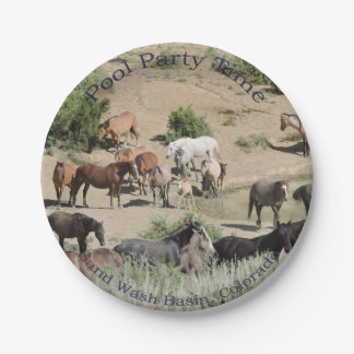 Pool Party Time Sand Wash Basin 7 Inch Paper Plate