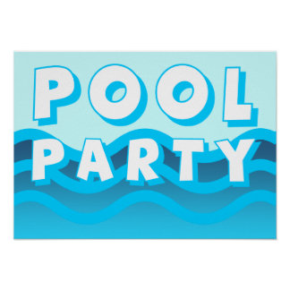 pool party waves poster