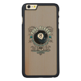 Pool Player Filigree 8-Ball Carved Maple iPhone 6 Plus Case