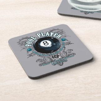 Pool Player Filigree 8-Ball Coaster