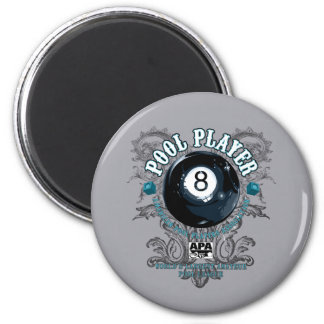 Pool Player Filigree 8-Ball Magnet