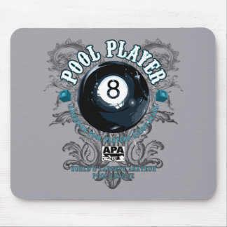 Pool Player Filigree 8-Ball Mouse Mat
