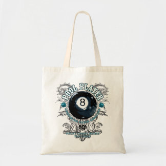 Pool Player Filigree 8-Ball Tote Bag