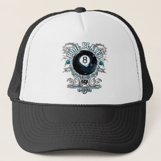 Pool Player Filigree 8-Ball Trucker Hat