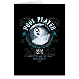 Pool Player Filigree 9-Ball Card