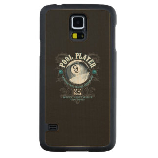 Pool Player Filigree 9-Ball Carved Maple Galaxy S5 Case