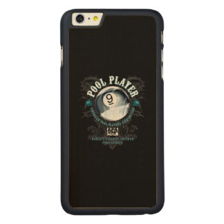 Pool Player Filigree 9-Ball Carved Maple iPhone 6 Plus Case