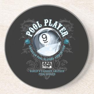 Pool Player Filigree 9-Ball Coaster