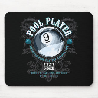 Pool Player Filigree 9-Ball Mouse Mat