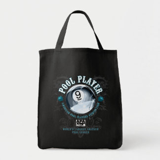 Pool Player Filigree 9-Ball Tote Bag