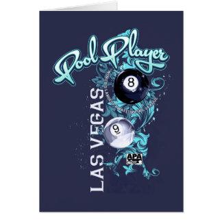 Pool Player Filigree Card