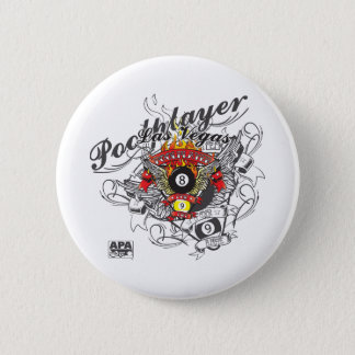 Pool Player For Life 6 Cm Round Badge