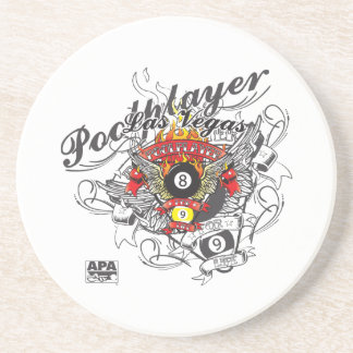 Pool Player For Life Coaster